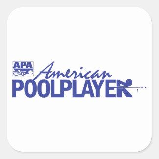 Custom American Pool Player - Blue Square Sticker