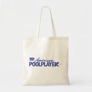 Custom American Pool Player - Blue Budget Tote Bag