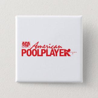 Custom American Pool Player - Red 15 Cm Square Badge