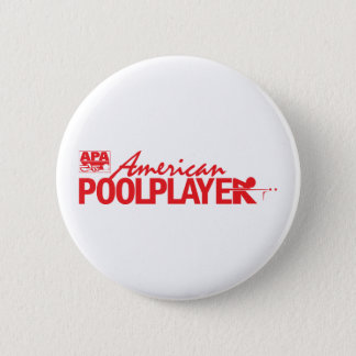 Custom American Pool Player - Red 6 Cm Round Badge