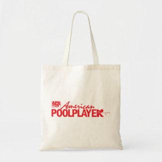 Custom American Pool Player - Red Budget Tote Bag