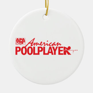 Custom American Pool Player - Red Christmas Ornament