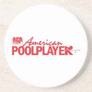 Custom American Pool Player - Red Coaster