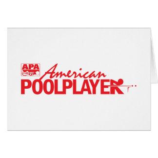 Custom American Pool Player - Red Greeting Card