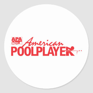 Custom American Pool Player - Red Round Sticker