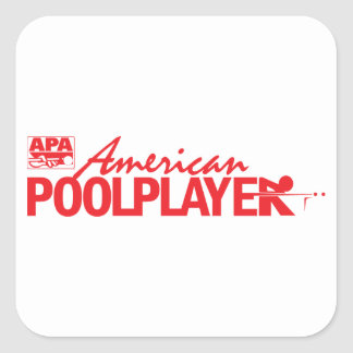 Custom American Pool Player - Red Square Sticker