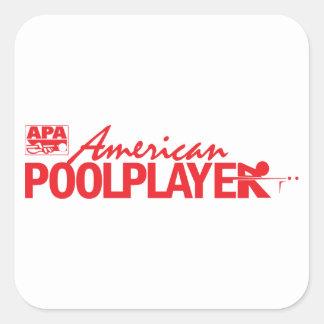 Custom American Pool Player - Red Square Sticker