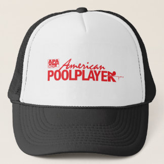 Custom American Pool Player - Red Trucker Hat