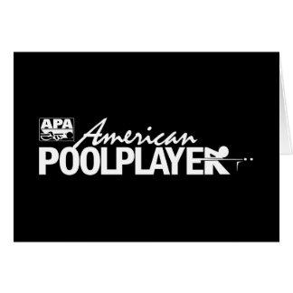 Custom American Pool Player - White Card