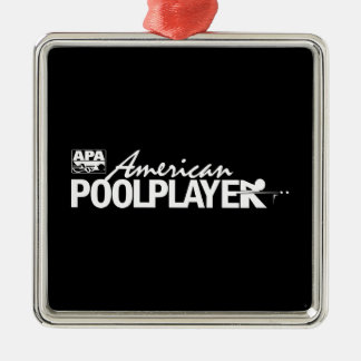 Custom American Pool Player - White Christmas Ornament