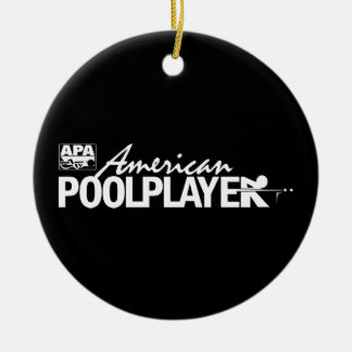 Custom American Pool Player - White Christmas Ornament