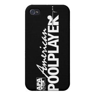 Custom American Pool Player - White iPhone 4 Case