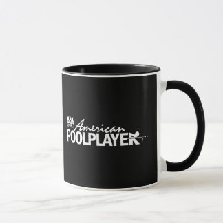 Custom American Pool Player - White Mug