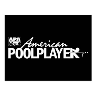Custom American Pool Player - White Postcard