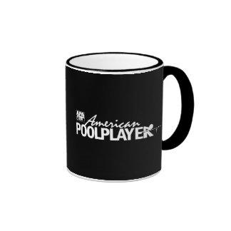 Custom American Pool Player - White Ringer Mug