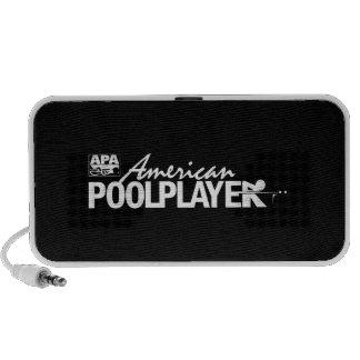 Custom American Pool Player - White Travel Speaker
