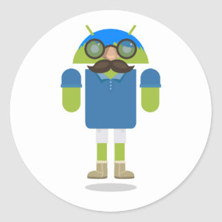 Custom Android Classic Round Sticker