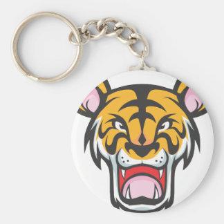 Custom Angry Tiger Cartoon Key Ring