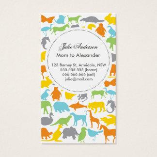 Custom animal mommy card