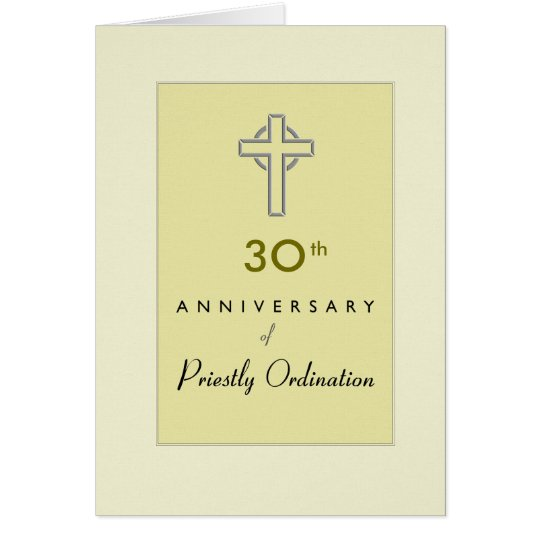 Custom Anniversary Year 30, of Priest with Embosse