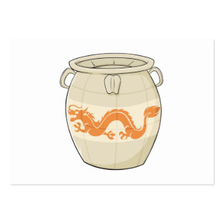 Custom Antique Oriental Chinese Vase Jar Invites Business Card Template