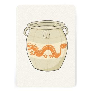 Custom Antique Oriental Chinese Vase Jar Invites