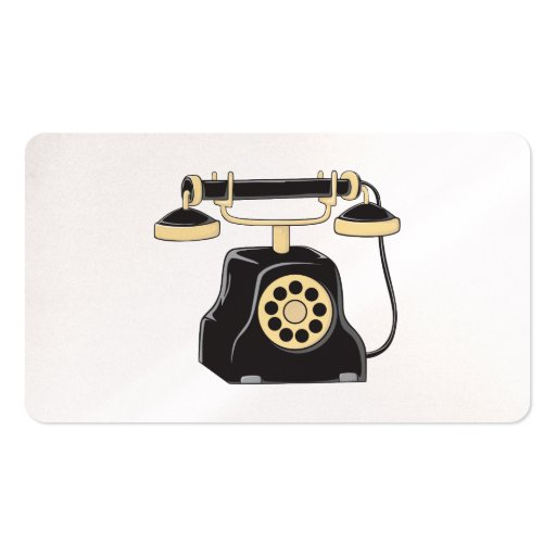 Custom Antique Rotary Dial Telephone Collector Business Card Template