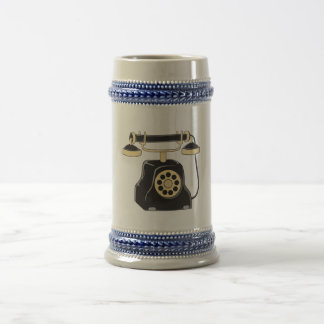 Custom Antique Rotary Dial Telephone Collector Pin Beer Stein