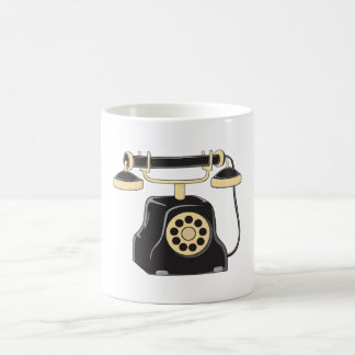 Custom Antique Rotary Dial Telephone Collector Pin Morphing Mug