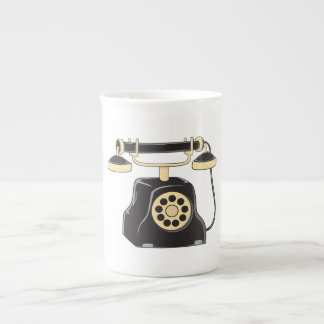 Custom Antique Rotary Dial Telephone Collector Pin Tea Cup