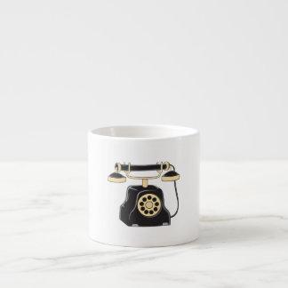 Custom Antique Rotary Dial Telephone Collector Pin 6 Oz Ceramic Espresso Cup