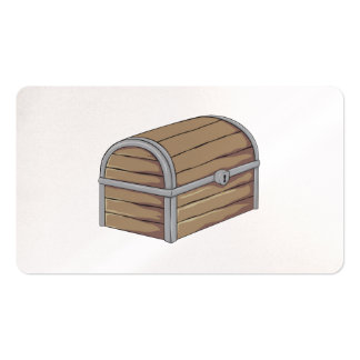 Custom Antique Wooden Pirate Treasure Chest Business Card Template