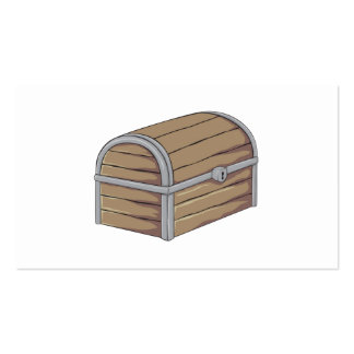 Custom Antique Wooden Pirate Treasure Chest Pack Of Standard Business Cards