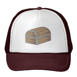 Custom Antique Wooden Pirate Treasure Chest Button Hat