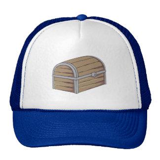 Custom Antique Wooden Pirate Treasure Chest Button Hats