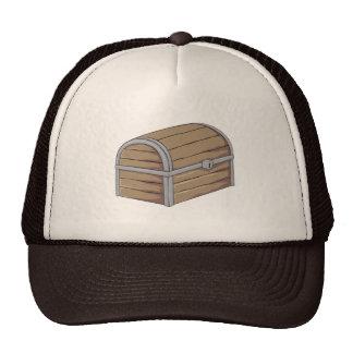 Custom Antique Wooden Pirate Treasure Chest Button Trucker Hats