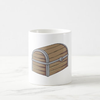 Custom Antique Wooden Pirate Treasure Chest Button Coffee Mugs