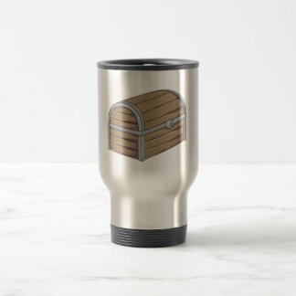 Custom Antique Wooden Pirate Treasure Chest Button Mugs