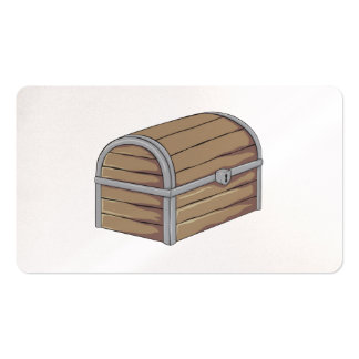 Custom Antique Wooden Pirate Treasure Chest Cards Pack Of Standard Business Cards