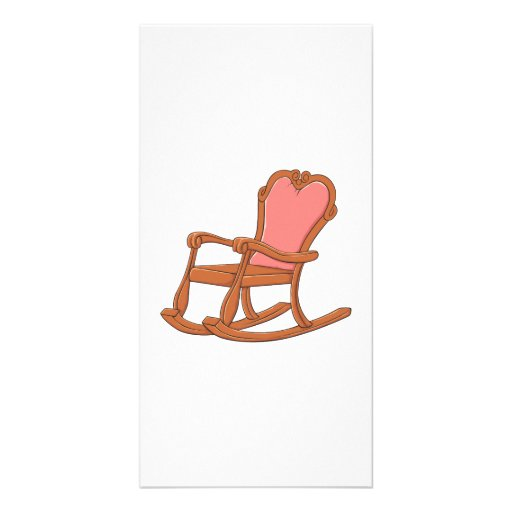 Custom Antique Wooden Rocking Chair Greeting Cards Photo Card Template
