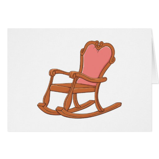 Custom Antique Wooden Rocking Chair Invitations Card