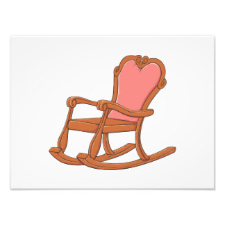 Custom Antique Wooden Rocking Chair Invitations Photo