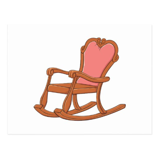 Custom Antique Wooden Rocking Chair Invitations Post Cards