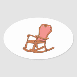 Custom Antique Wooden Rocking Chair Invitations Stickers