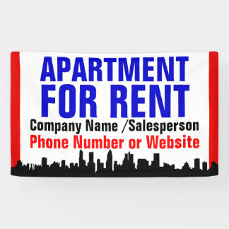 Custom Apartment for Rent Sign