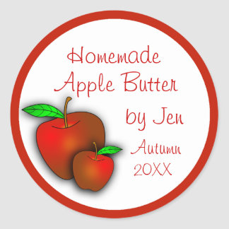 Custom Applesauce or Apple Butter Labels Round Sticker