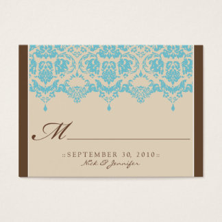 :custom: Aqua Darling Placecard Business Card