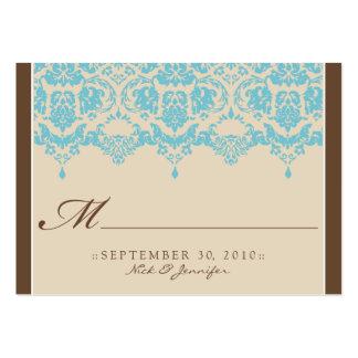 :custom: Aqua Darling Placecard Business Card