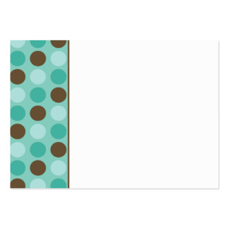 :custom: Aqua Polkadots Place Setting Card Pack Of Chubby Business Cards