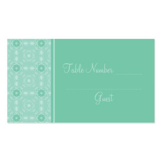 Custom Aqua Wedding Reception Table Place Cards Pack Of Standard Business Cards